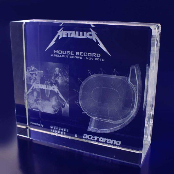 3d crystal award box 180mm