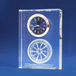 3d laser crystal clock