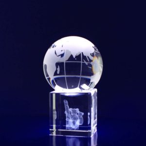 globe paperweight crystal 3d