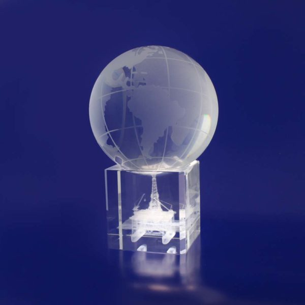 3d crystal paperweight world globe