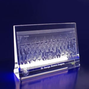 3d glass etched plaque horizontal