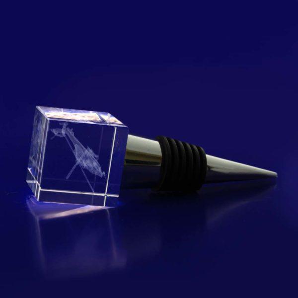 crystal engraved bottle stop