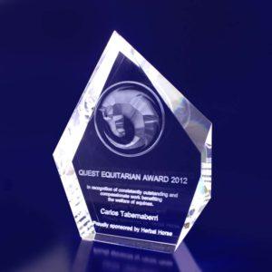 crystal trophy award prestige thin