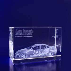 crystal engraving rectangle monolith 120mm