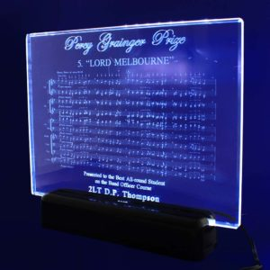 engraved crystal plaque 130mm