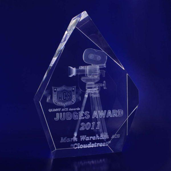 crystal trophy award prestige