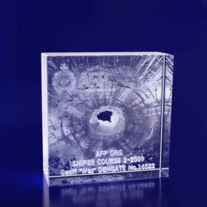 3d crystal award box 100mm