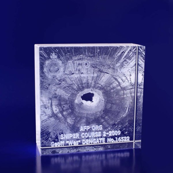3d crystal award box 100mm