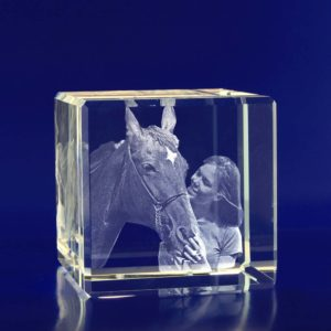 3d crystal photo cube 60mm