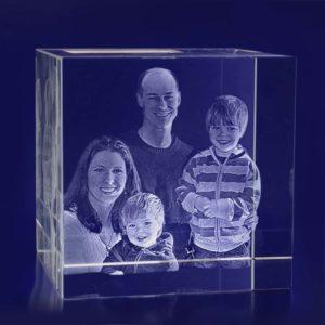 3d crystal photo cube 100mm