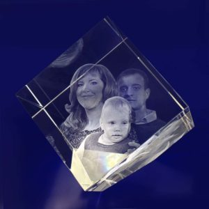 3d crystal photo diamond 100mm