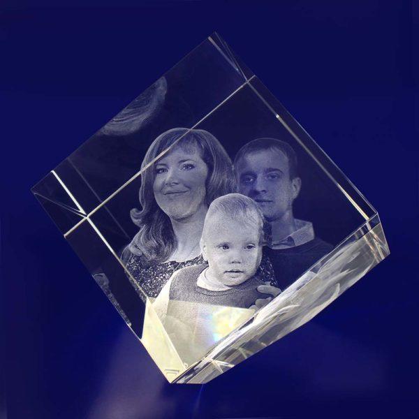 3d crystal photo diamond 100mm
