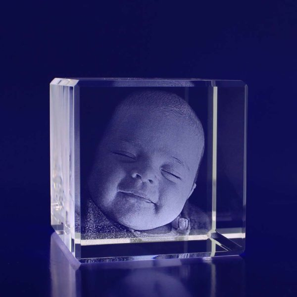 Laser photo crystal cube 60mm 2d