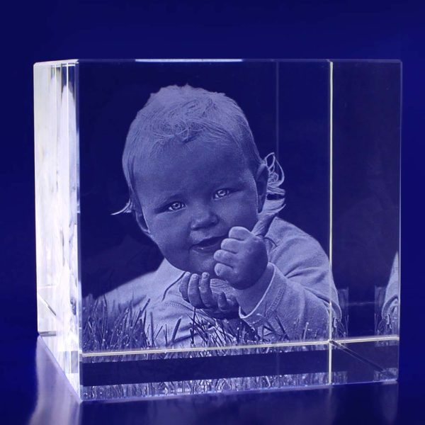 laser photo crystal cube 100mm 2d