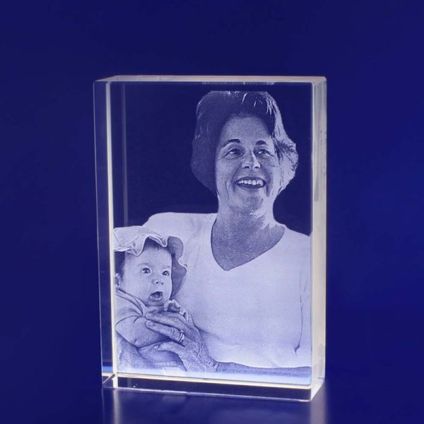 2d photo crystal tower engraving