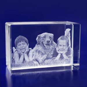 laser photo glass crystal monolish 2d