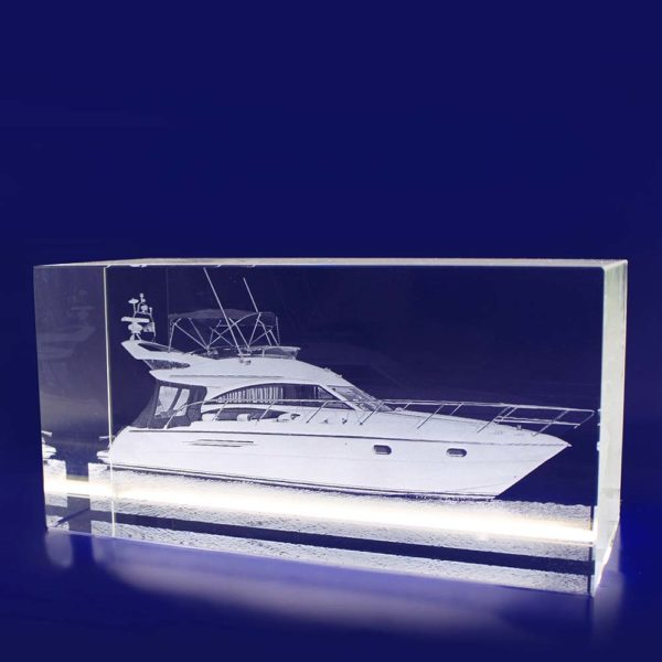 laser photo etched glass rectangle 200mm 2d