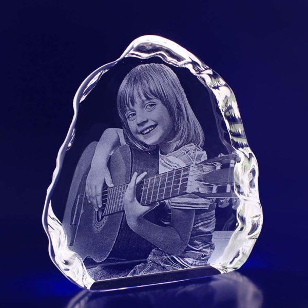 laser photo engraved iceberg crystal 2d