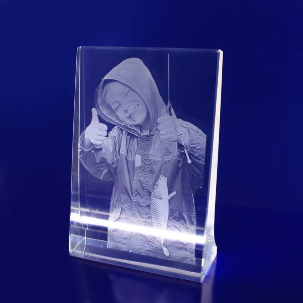 2d photo crystal vertical frame