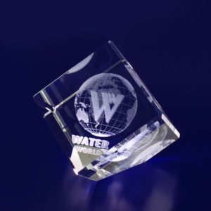glass paperweight diamond 60mm