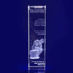 3d crystal trophy bar