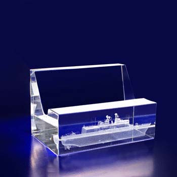 coperate glass gift business card holder