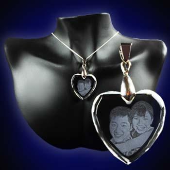Heart Crystal Pendant 2d