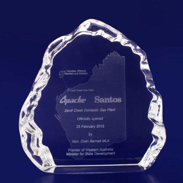 iceberg crystal trophy 3d