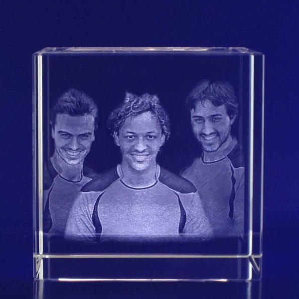 3d crystal photo cube 80mm