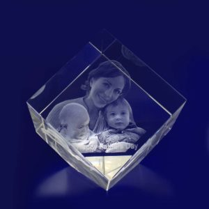 3d crystal photo diamond 80mm