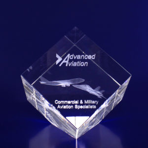 laser etched paperweight diamond 80mm