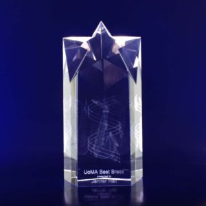 star crystal trophy 3d 180mm