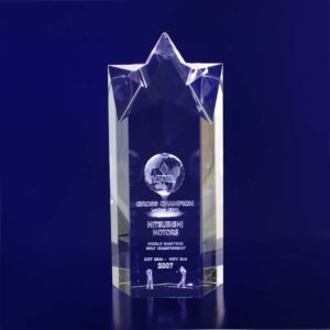 star trophy 3d laser engraved 200mm