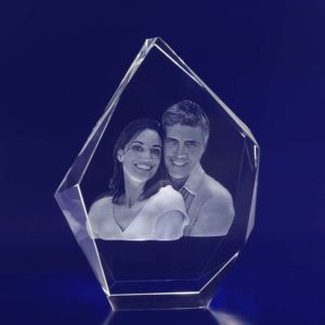 large prestige crystal engraved photo 3d