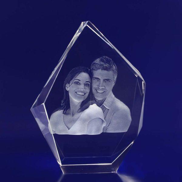 large prestige crystal engraved photo 3d