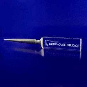corporate glass gift letter opener