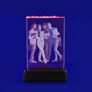 laser photo etched glass studio 2d coloured lights