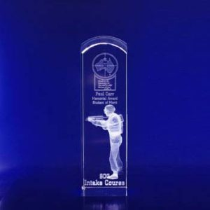 3d crystal trophy rect dome 230mm