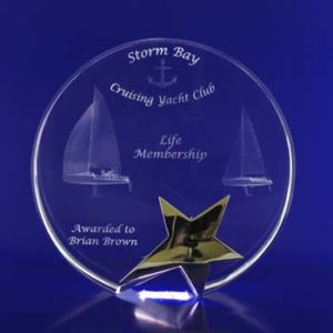 star trophy award 3d crystal