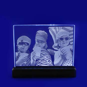 laser photo etched white lights glass studio 2d