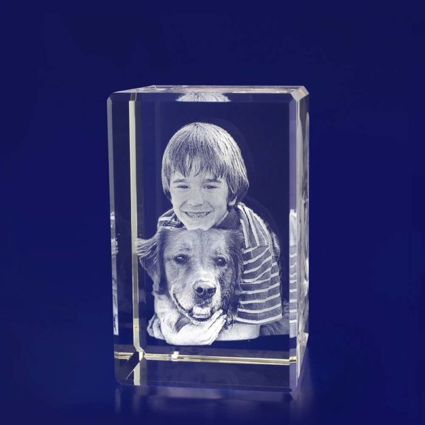 3d photo engraved crystal tower