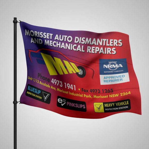 full colour customised flag sublimated printed