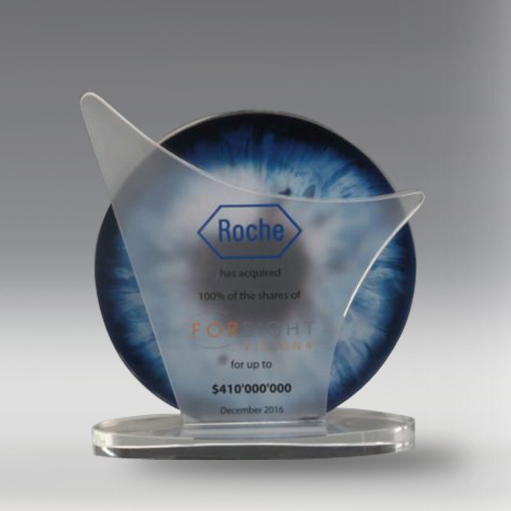 Custom Crystal Award with Advanced Colour Print