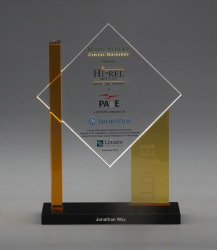 Custom Crystal Award with Advanced Colour Print