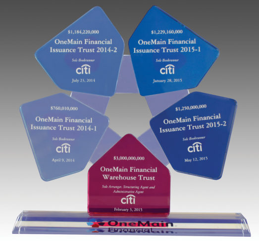 Bespoke Custom Crystal Award with Advanced Colour Print