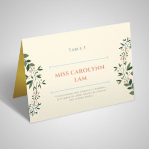 wedding seating place-card table number full colour stationery